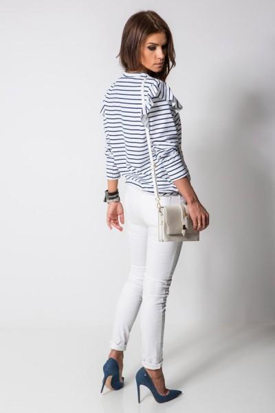 Spodnie Zamki Białe