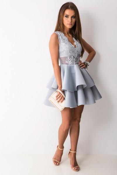 Lady Sukienka Mini Silver