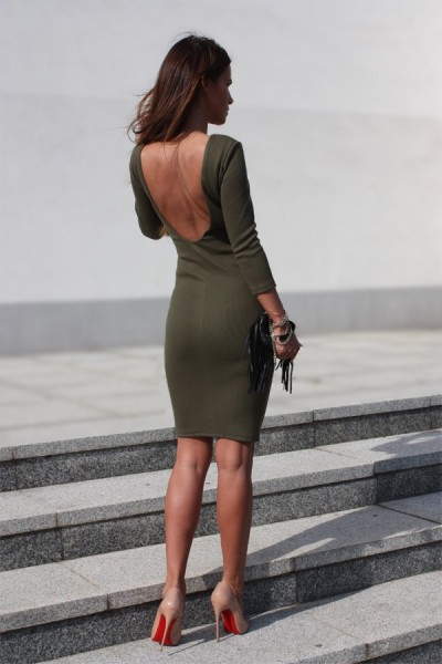 Diva Sukienka Khaki