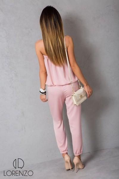 Seksowny Komplet Top + Spodnie Róż