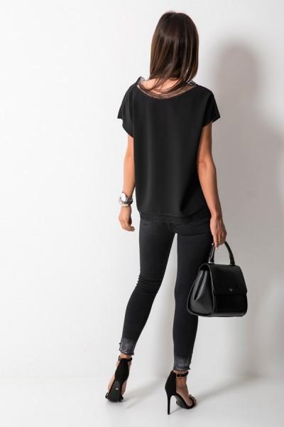9051-6 Spodnie Czarne