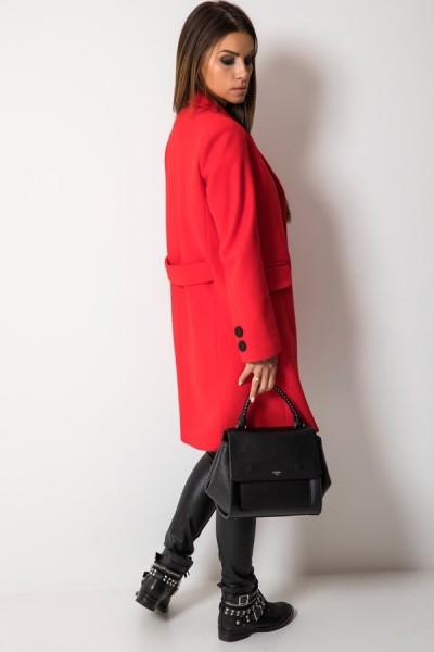 Klasyczny Płaszcz Czerwony