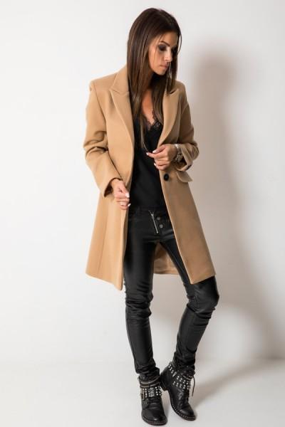 Klasyczny Płaszcz Camel