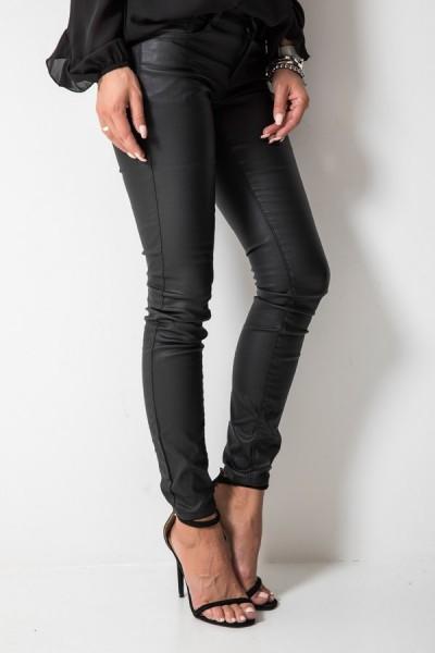 Spodnie Woskowane Czarne