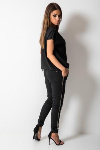 Spodnie Baggy Lampas Czarne