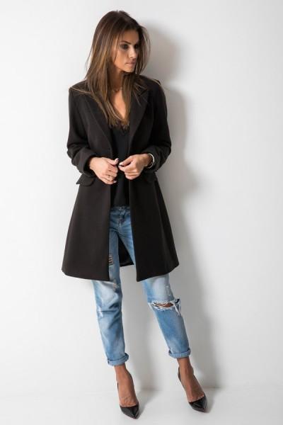 Klasyczny Płaszcz Czarny