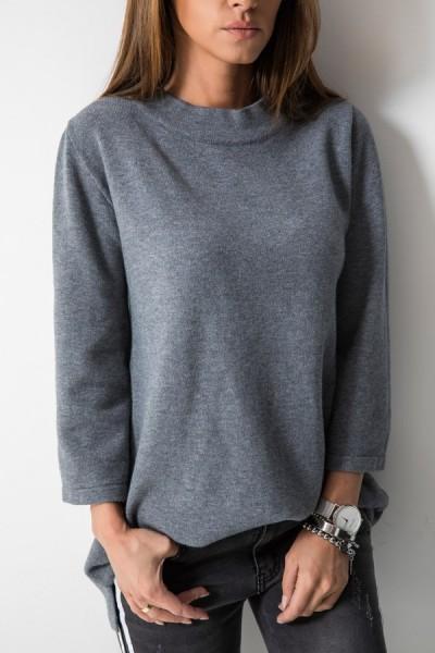 213 Sweter Włoski Grafit