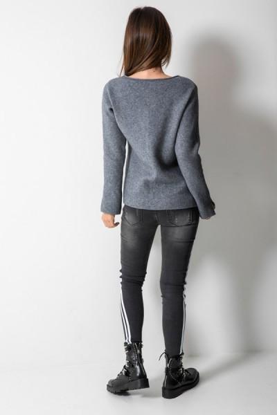 73007 Sweter Włoski Grafit