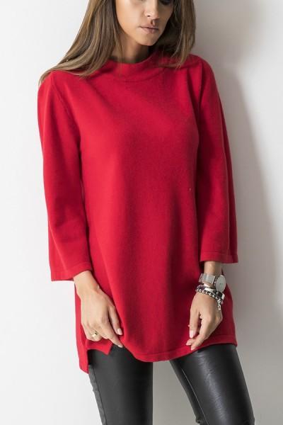 213 Sweter Włoski Czerwony