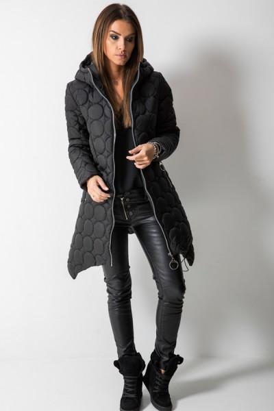 Płaszcz Pikowany Czarny