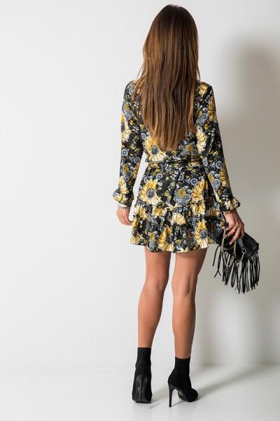 Gloria Sukienka Kwiaty Czarna