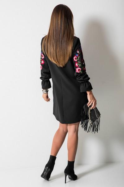 Amanda Sukienka Kwiaty Czarna
