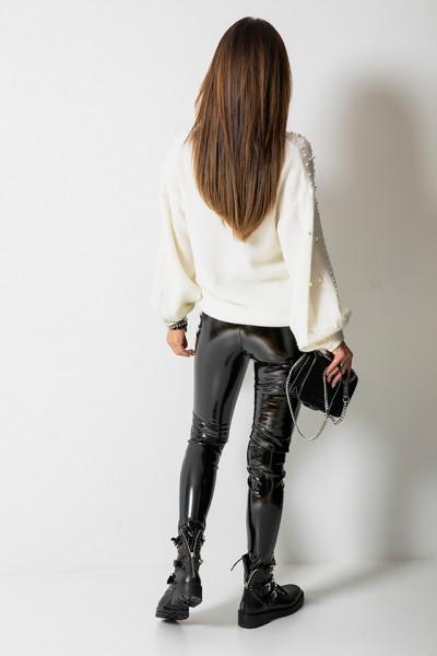 Spodnie Vinyl Czarne