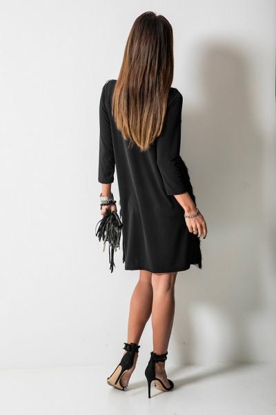 Mary Sukienka Frędzle Czarna