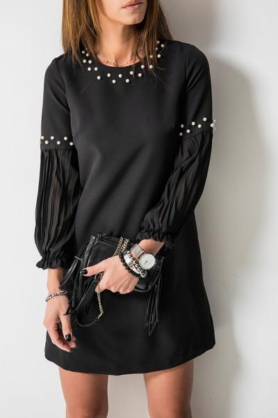 Donna Sukienka Pearls Czarna