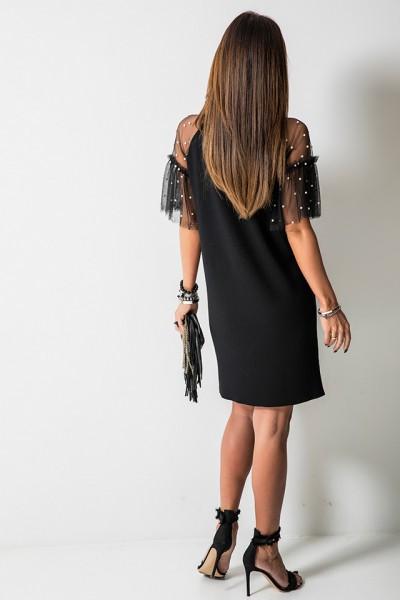 Colette Sukienka Pearls Czarna