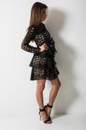 Amelie Sukienka Black/Beige