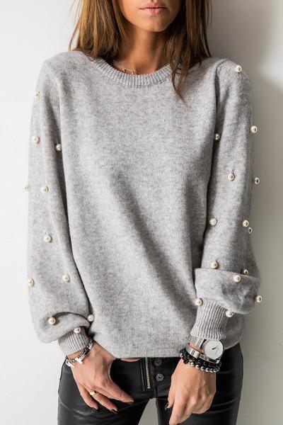 Sweter Perły Szary