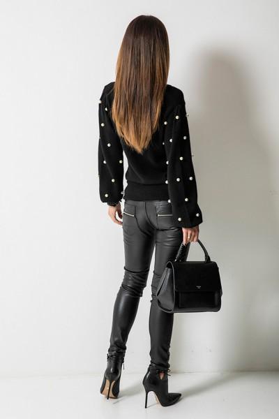 Sweter Perły Czarny