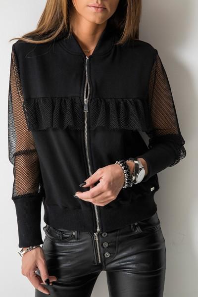 Bluza Siateczka Logo Czarna