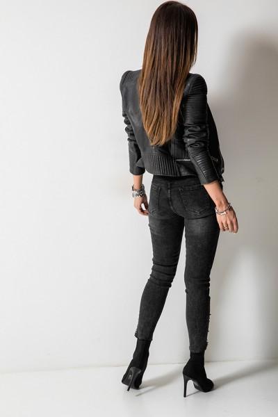 D668-2 Spodnie Czarne