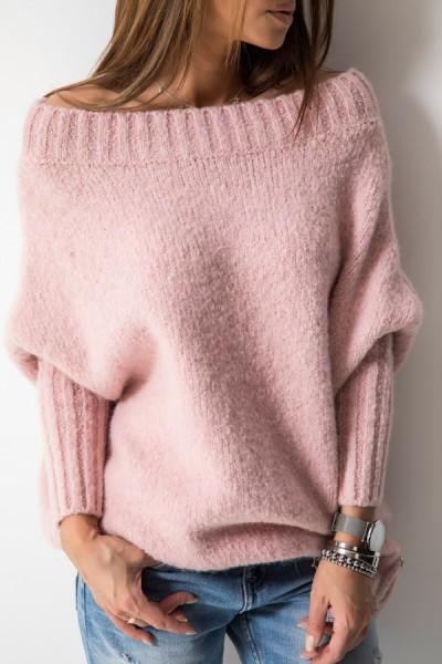 Sweter Logo Róż