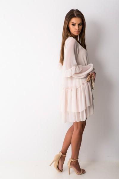 Tina Sukienka Trapezowa Beż