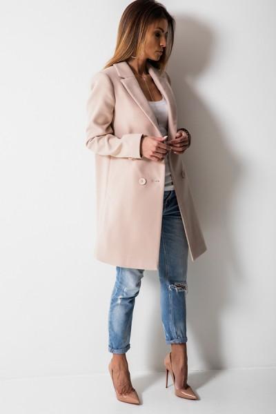 Klasyczny Płaszcz Beż