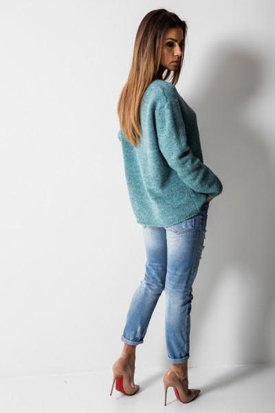 CH115 Klasyczny Sweter Morski