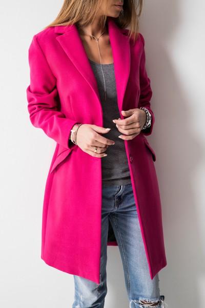 Klasyczny Płaszcz Amarant