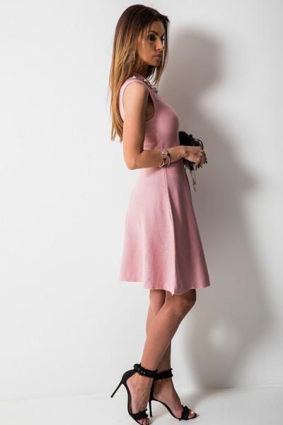 Flavia Sukienka Cyrkonie Róż