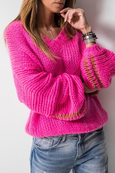 5525 Sweter Oversize Amarant