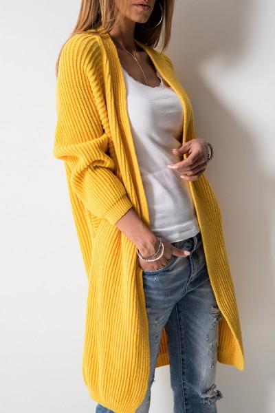 Wełniany Kardigan Yellow