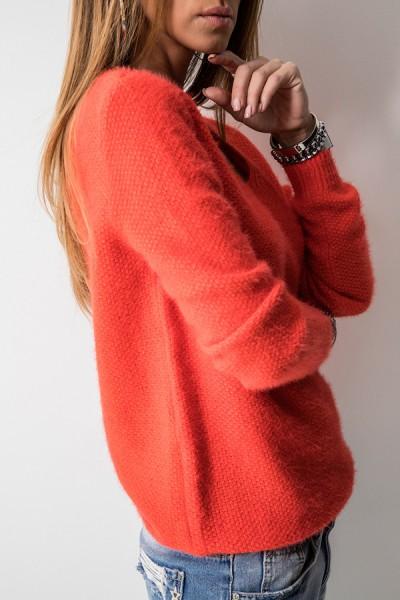 K7899 Klasyczny Sweter Orange