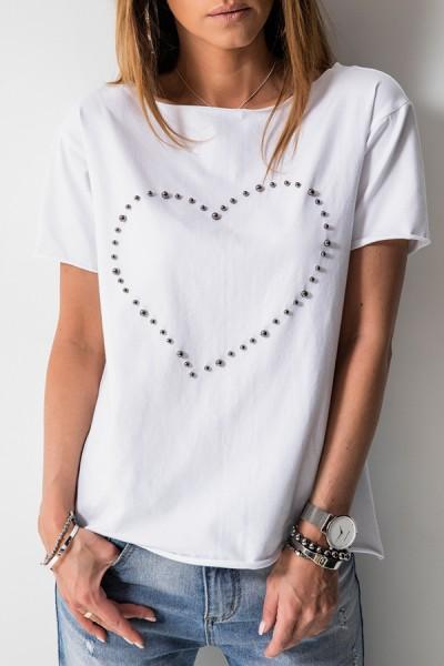 Bluzka Love Pearls Biel