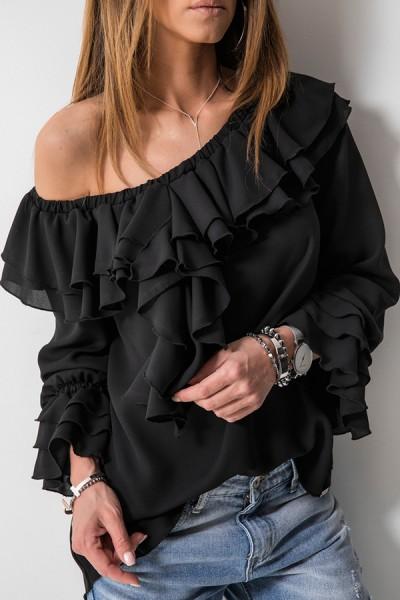 Leila Bluzka Hiszpanka Czarna