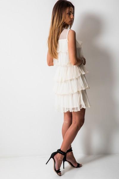 Sissi Sukienka Ecru