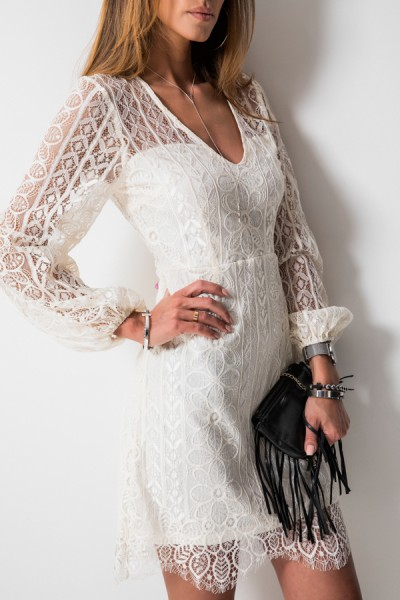 Celine Sukienka Ecru