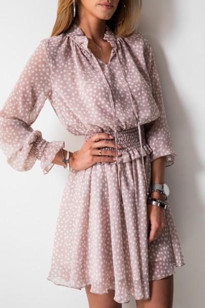 Chelsea Sukienka Grochy Beż
