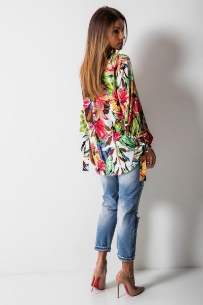 Florence Bluzka Kwiaty Biel