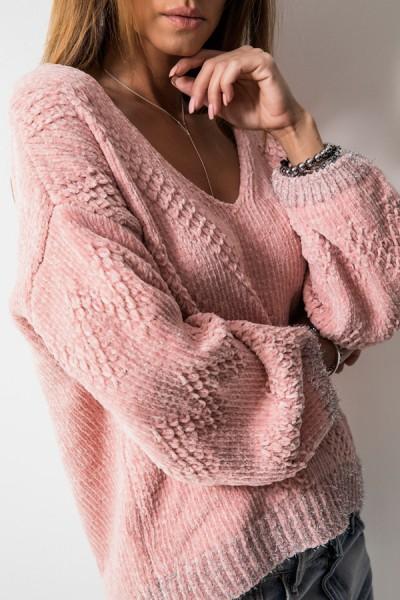 Asymetryczny Sweter Róż