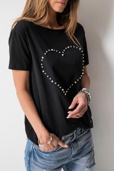 Bluzka Love Pearls Czarna