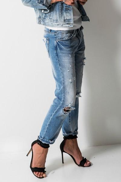 L8059 Spodnie Boyfriend Jeans