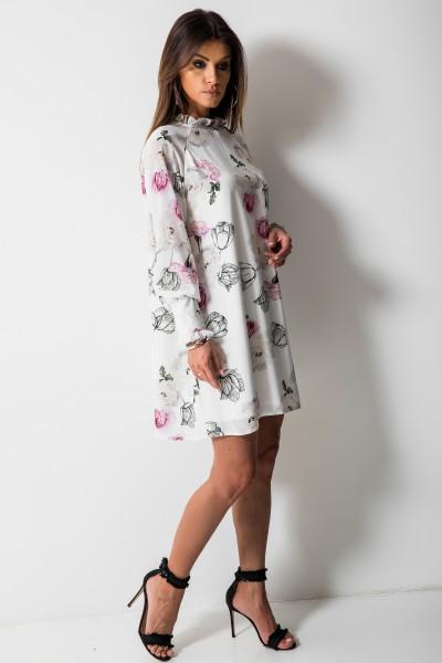 Roses Sukienka Kwiaty Biel