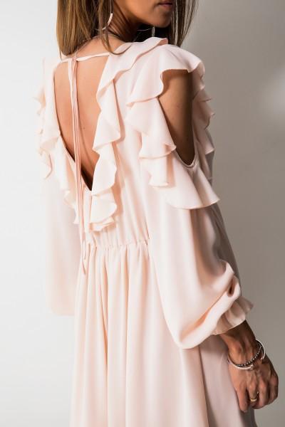Justine Sukienka Pudrowy Róż