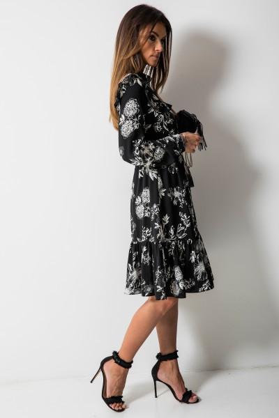 Maddy Sukienka Kwiaty Czarna