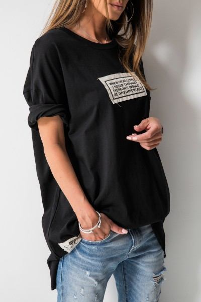 Jasper T-shirt Oversize Czarny