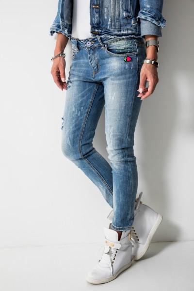 DY320 Spodnie Boyfriend Jeans