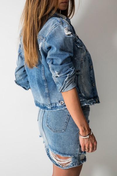 3D-957 Spódniczka Jeans