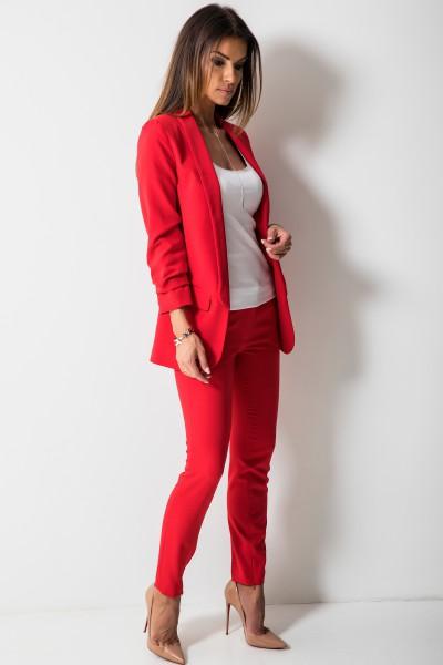 Bristol Eleganckie Spodnie Czerwone